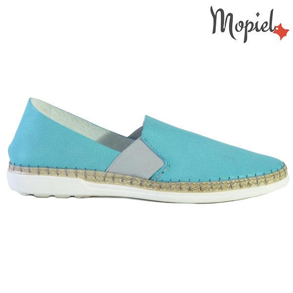Pantofi dama, din piele naturala 23810 Turcoaz Cindya