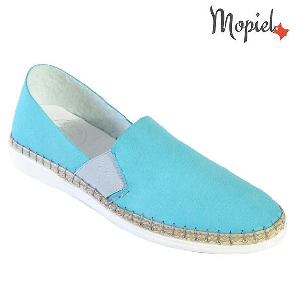 Pantofi dama, din piele naturala 23810 Turcoaz Cindya incaltaminte dama