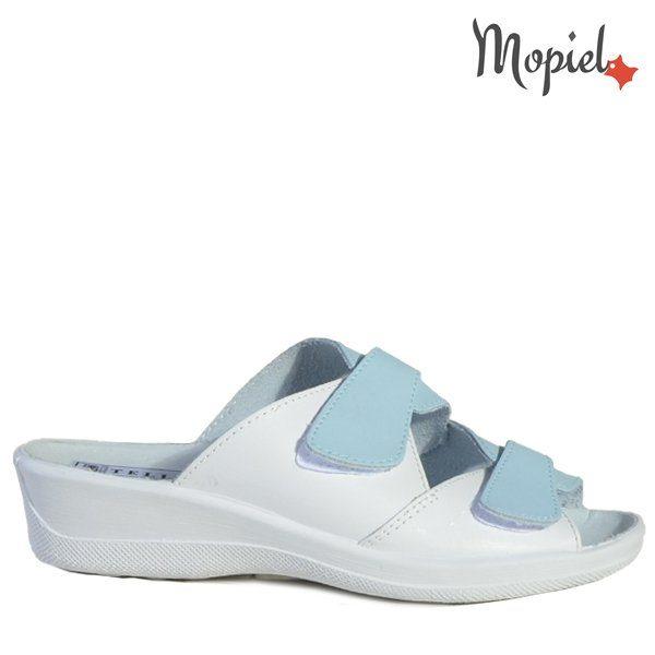 - Papuci dama ortopedici 261912 51 07 07 Alb Albastru Ofelia 600x600 - Cand stai mai mult acasa… papuci din piele!