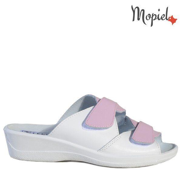 - Papuci dama ortopedici 261912 51 0707 Alb Roz Ofelia 600x600 - Cand stai mai mult acasa… papuci din piele!