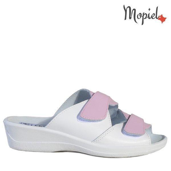 - Papuci dama ortopedici 261912 51 0707 Alb Roz Ofelia - Cand stai mai mult acasa… papuci din piele!