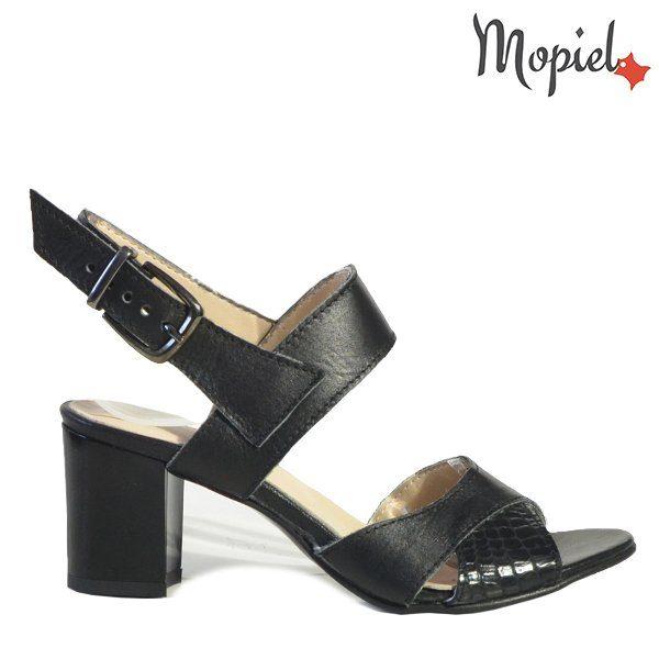 - Sandale dama din piele naturala 25606 Negru Poly 600x600 - Incaltamintea cu talpa confort