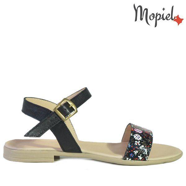 - Sandale dama din piele naturala 25623NegruFloriSilvia 600x600 - Incaltamintea cu talpa confort
