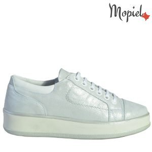 - Pantofi dama din piele naturala 102347 Argintiu Nely 300x300 - PANTOFI DAMA