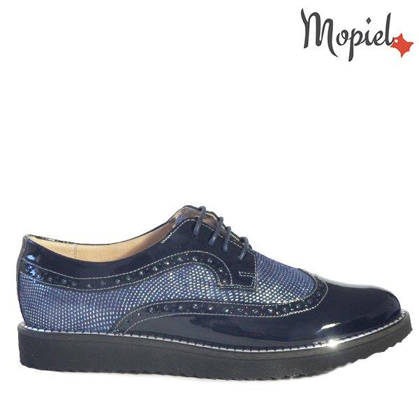 - Pantofi dama din piele naturala 18655 Albastru Argintiu Bella - Confortul picioarelor tale
