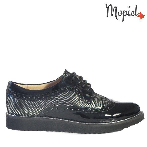 - Pantofi dama din piele naturala 18655 Negru Argintiu Bella - Confortul picioarelor tale