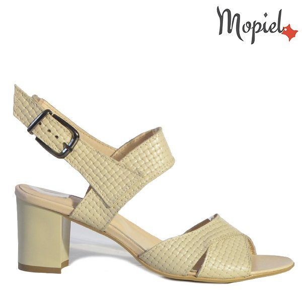 - Sandale dama din piele naturala 25606 Bej Poly 600x600 - Incaltamintea cu talpa confort