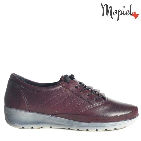 - Pantofi dama din piele naturala 230319 1043 Bordo Nora - Pantofii Oxford