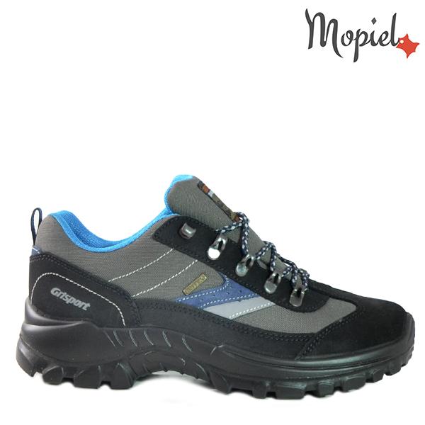 - Pantofi trekking 13318 Gri Jhon - Ghete barbati, din piele rezistenta la patrunderea apei