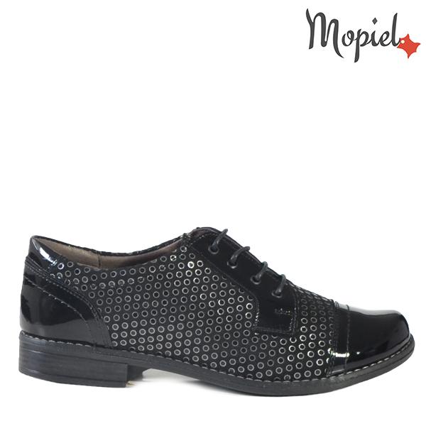 - Pantofi dama din piele naturala 23140914138ArgintiuNegruSorina - COLECTIE NOUA PANTOFI DAMA