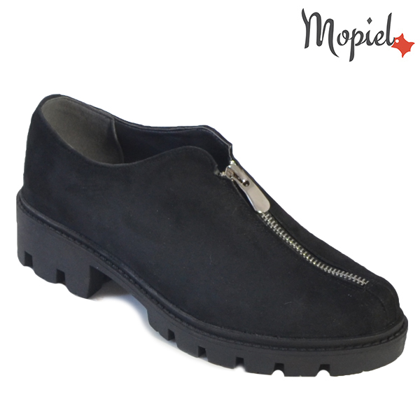 - Pantofi dama din piele naturala 231502 305 Negru Anina incaltaminte dama - Mari reduceri de toamna!