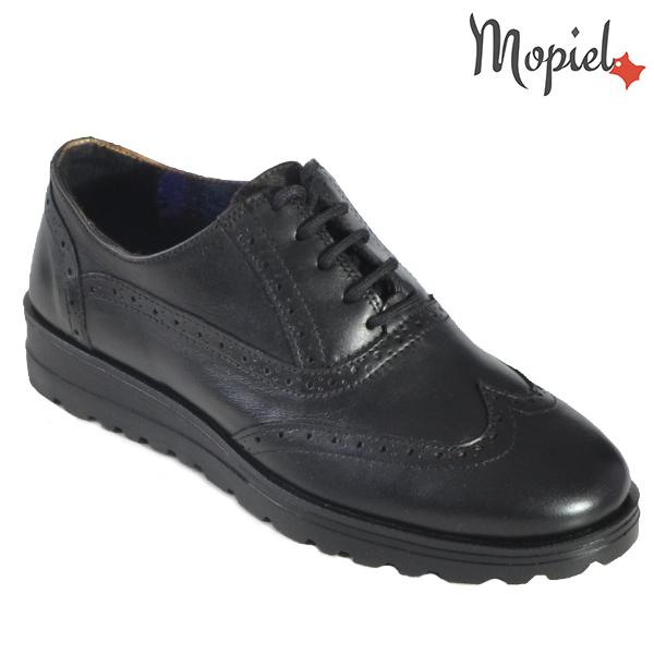 """- Pantofi dama din piele naturala 23408 Negru Desert incaltaminte piele - Picioarele tale iti vor spune"""" Multumesc"""" !"""
