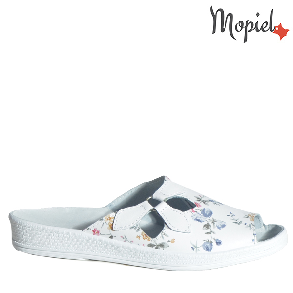 Papuci dama ortopedici 261912/74-06/B/Alb-Floral/Ofelia