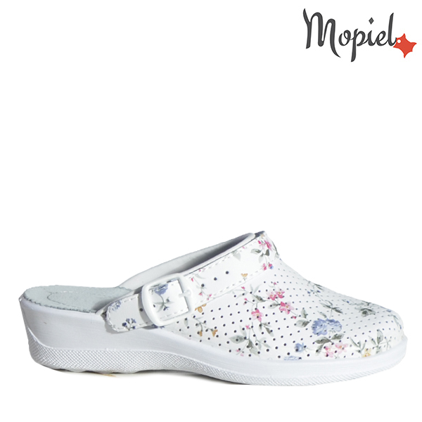 - Papuci dama ortopedici 26191251 07 01 B Alb Floral Ofelia - Promotiile saptamanii!