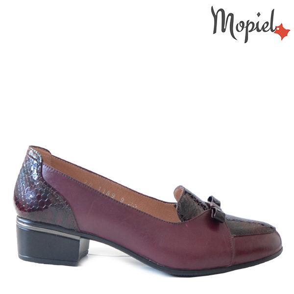 Pantofi dama din piele naturala 241401 118948 Visiniu Natalia