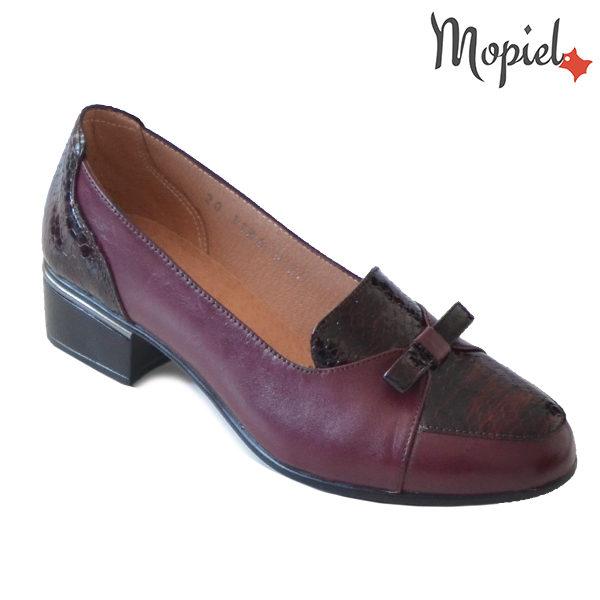 Pantofi dama din piele naturala 241401 118948 Visiniu Natalia incaltaminte dama