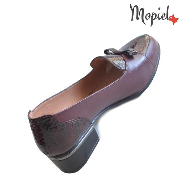 Pantofi dama din piele naturala 241401 118948 Visiniu Natalia incaltaminte mopiel