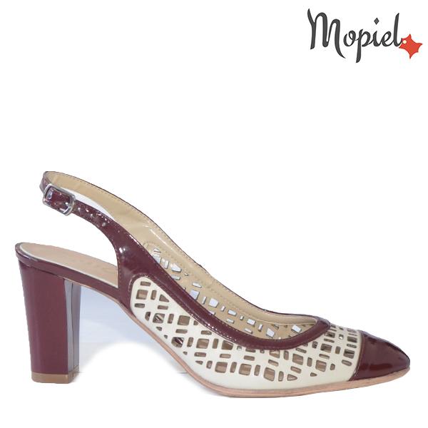 - Sandale dama din piele naturala 1017 063 Bej Visiniu Livia - Reduceri la toate produsele!