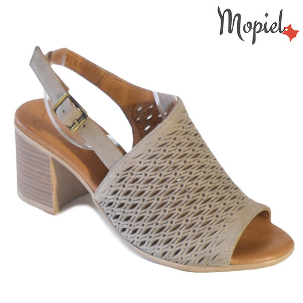 Sandale dama din piele naturala 251115 Taupe Thalia incaltaminte dama