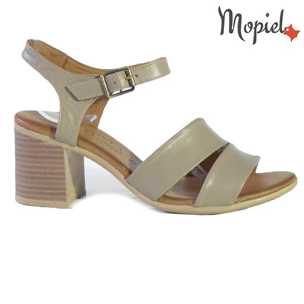 Sandale dama din piele naturala 251116 Taupe Leila