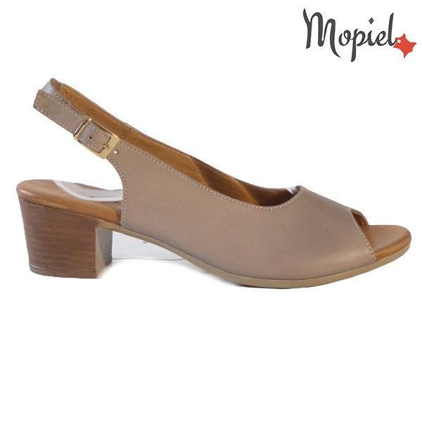 Sandale dama din piele naturala 251117 Taupe Silvia