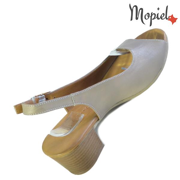 Sandale dama din piele naturala 251117 Taupe Silvia incaltaminte ieftina