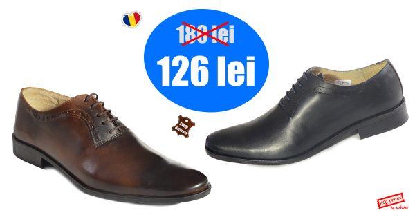 pantofi barbati - 14701 bunn 600x314 - Pantofi barbati, din piele, 128 lei! Lichidare stoc!