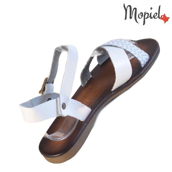 Sandale dama din piele naturala 251106 Alb Crina incaltaminte ieftina