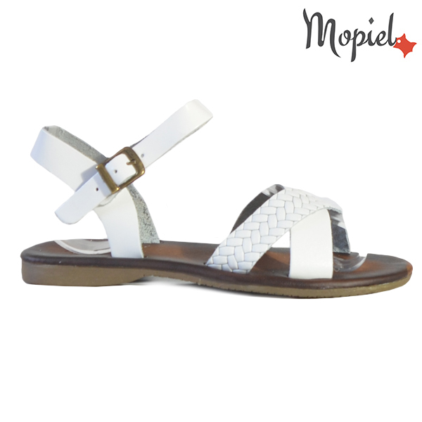 Sandale dama din piele naturala 251106 Alb Crina