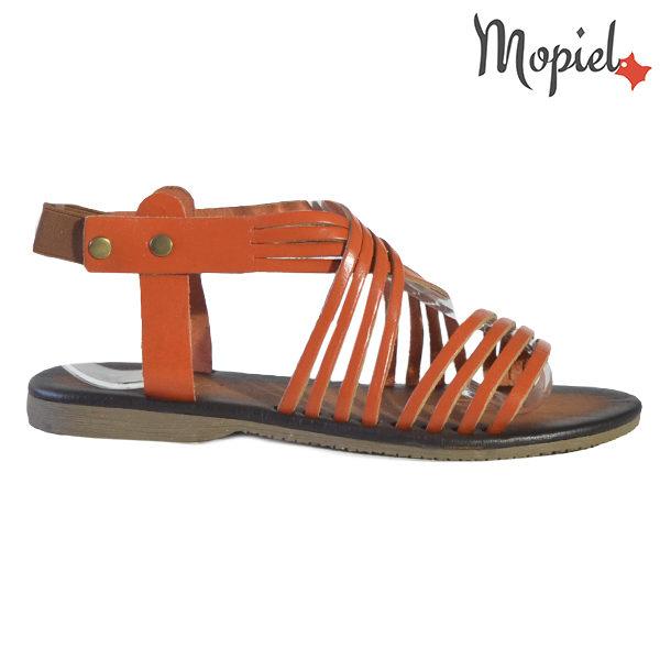 mopiel, incaltaminte dama sandale dama, reduceri incaltaminte,  - Sandale dama din piele naturala 251107 Portocaliu Melania 600x600 - LICHIDARI DE STOC