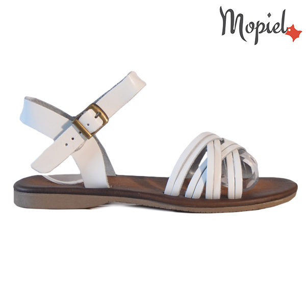 Sandale dama din piele naturala 251108 Alb Carina