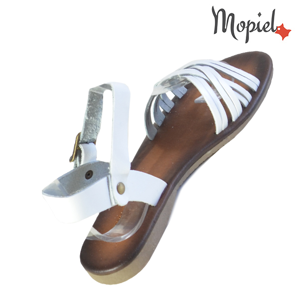 Sandale dama din piele naturala 251108 Alb Carina incaltaminte fashion