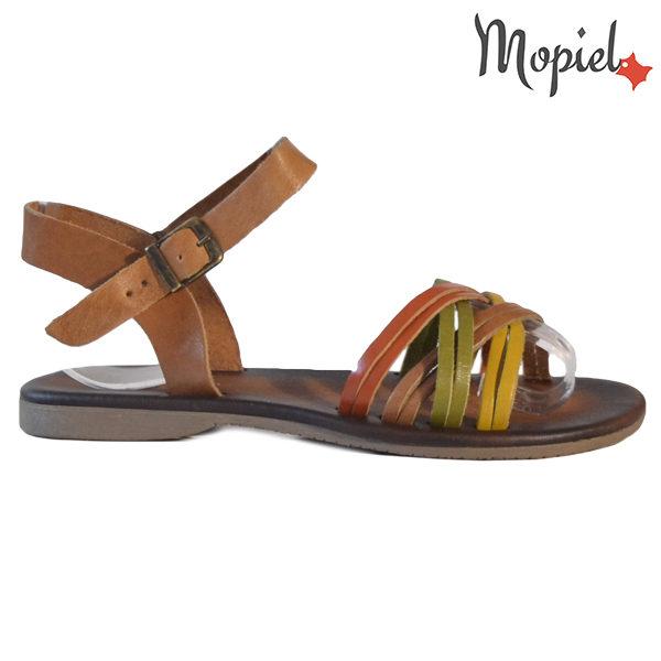 Sandale dama din piele naturala 251108 Maro-Multicolor Carina
