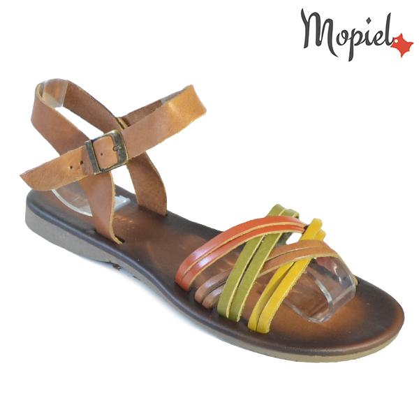 Sandale dama din piele naturala 251108 Maro-Multicolor Carina incaltaminte dama