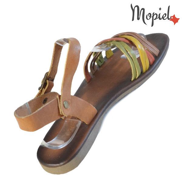 Sandale dama din piele naturala 251108 Maro-Multicolor Carina incaltaminte fashion