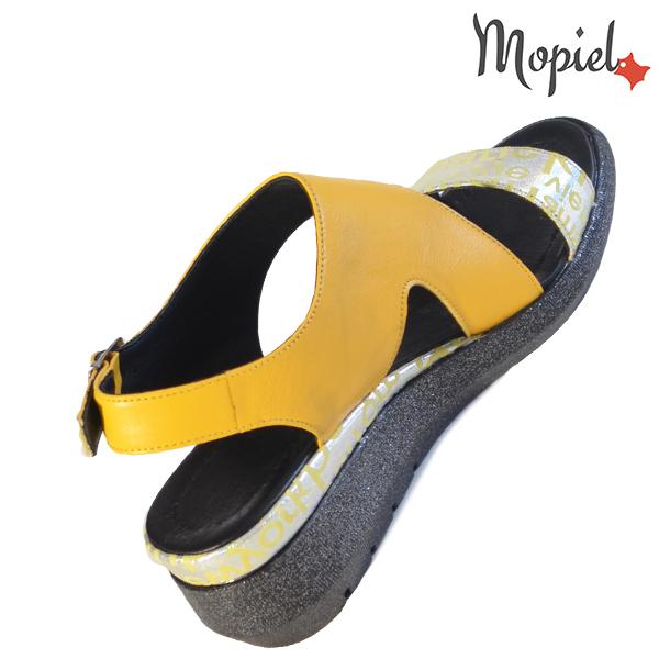 Sandale dama din piele naturala 251109 Galben Elvira incaltaminte fashion