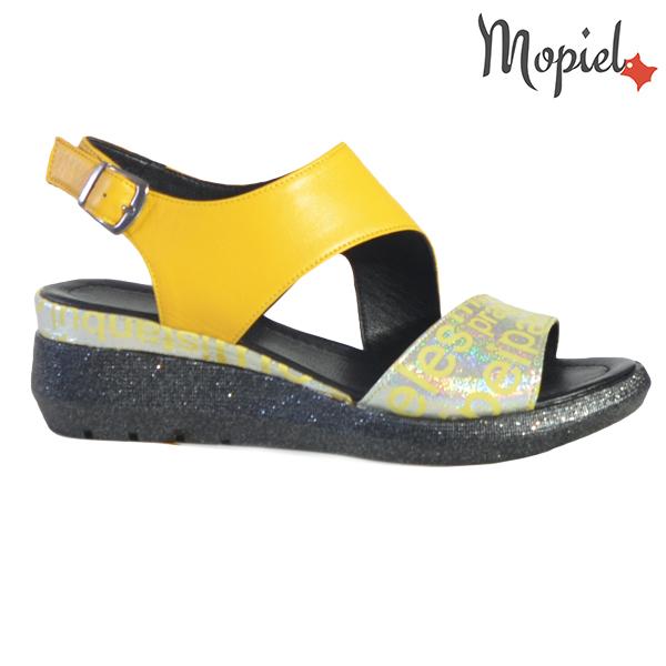 Sandale dama din piele naturala 251109 Galben Elvira