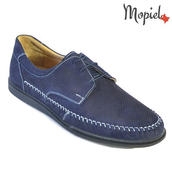 Pantofi barbati, din piele naturala 131101 Bleumarin Iustin incaltaminte barbati