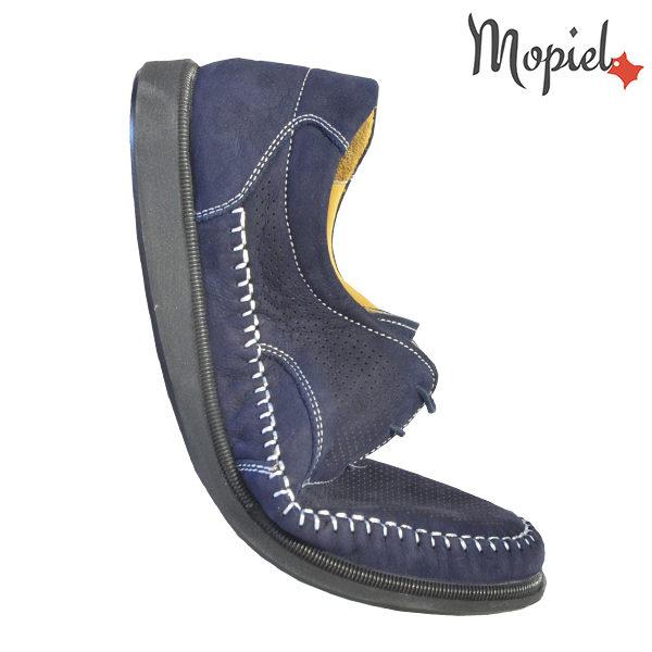 Pantofi barbati, din piele naturala 131101 Bleumarin Iustin incaltaminte barbati din piele