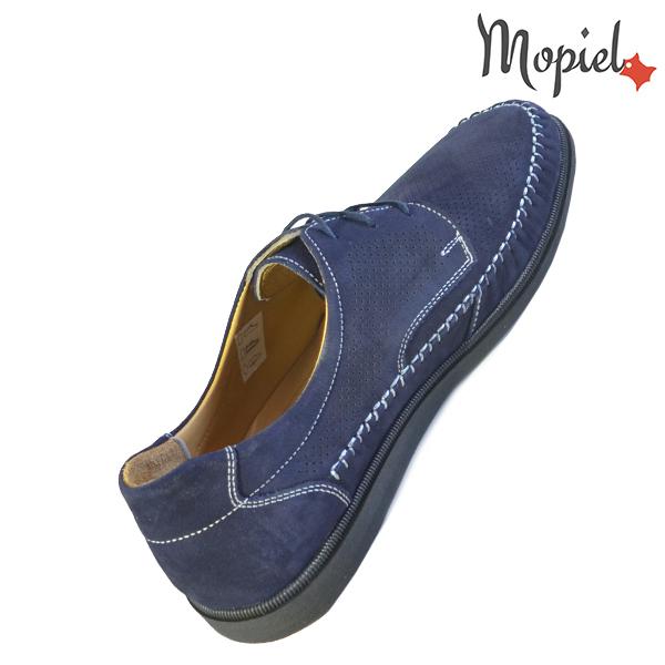 Pantofi barbati, din piele naturala 131101 Bleumarin Iustin incaltaminte ieftina