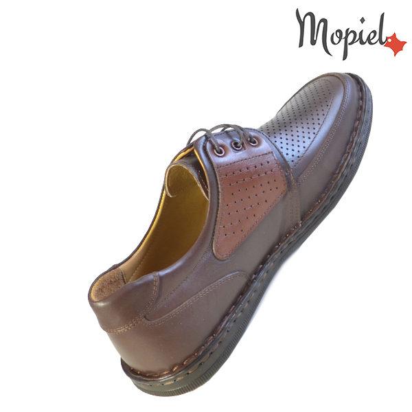 Pantofi barbati, din piele naturala 131102 Maro-Roscat Alesis incaltaminte ieftina