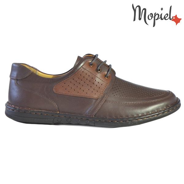 Pantofi barbati, din piele naturala 131102 Maro-Roscat Alesis