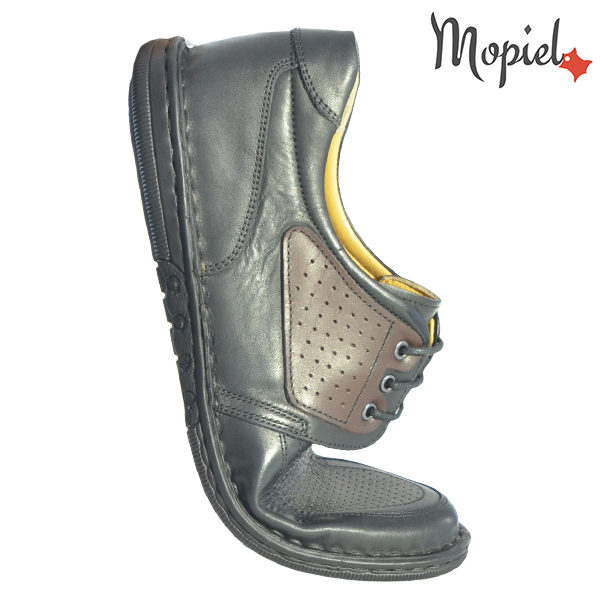 Pantofi barbati, din piele naturala 131102 Negru Alesis incaltaminte barbati piele