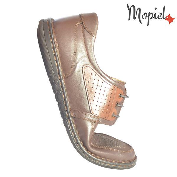 Pantofi barbati, din piele naturala 131102Maro-Roscat Alesis incaltaminte ieftina