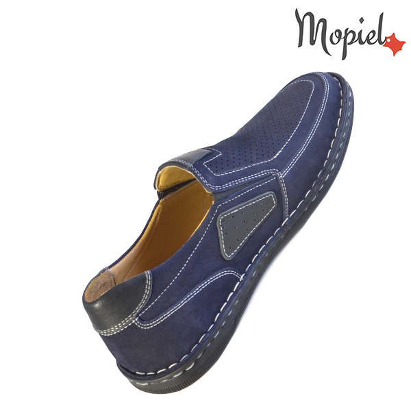 Pantofi barbati, din piele naturala 131103 Bleumarin Alvin incaltaminte fashion