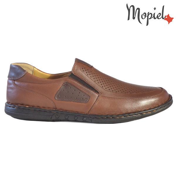 Pantofi barbati, din piele naturala 131103 Castaniu Alvin