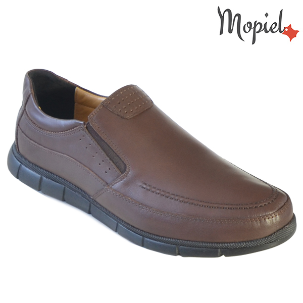 Pantofi barbati, din piele naturala 131107 Maro Antim incaltaminte barbati