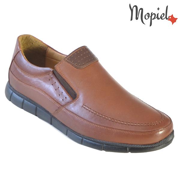 Pantofi barbati, din piele naturala 131107 Maro-Roscat Antim reduceri incaltaminte