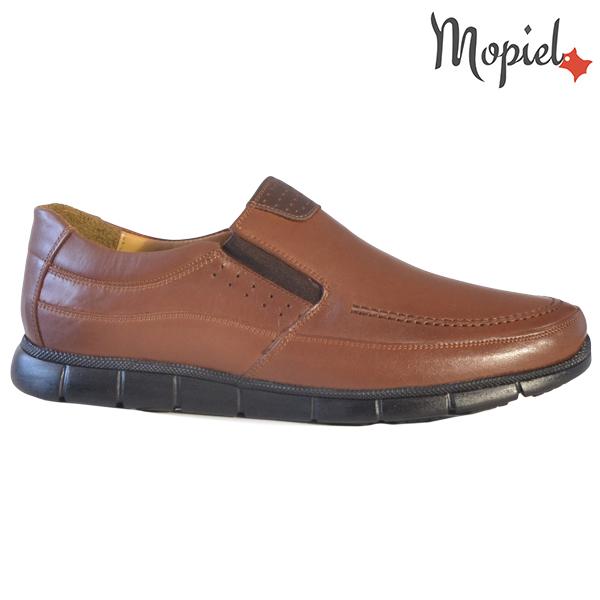 Pantofi barbati, din piele naturala 131107 Maro-Roscat Antim