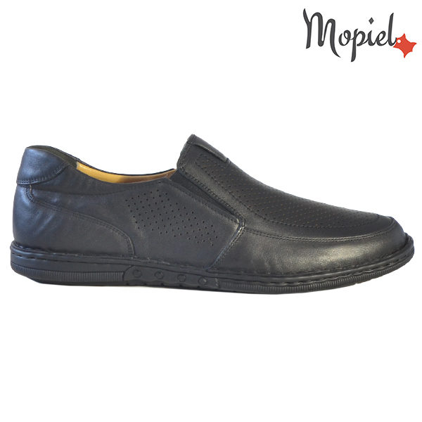 Pantofi barbati, din piele naturala 1311104 Negru Amza